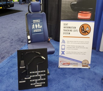 Intermotive and Freedman Seating showcased the Safe-T-Seat product at BusCon 2019 in September.