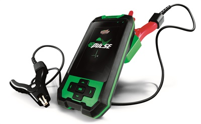 The IB Pulse from Interstate Batteries recommends Interstate replacement batteries by part number to reduce installation error, provides battery reset instructions, and retrieves battery test history by vehicle identification number. Photo courtesy of Interstate