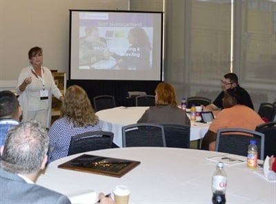 Lori Miller, owner of the company Developing Professionals, discussed best practices for selecting job candidates and the most effective uses for different types of interviews.