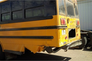 A Netherlands Reformed Christian School bus stopped to pick up students and was rear-ended by a 2010 Chevy Impala driven by a 16-year-old boy. Damage to the bus was estimated at $5,000.
