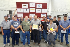 "There were 16 participants (shown) from 11 different schools in this year's ""Best of the Best Technician's Training & Competition."""