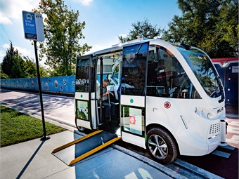 Fla.'s Jacksonville Transportation Authority is testing the first ADA accessible NAVYA autonomous vehicle prototype in the U.S. at its Ultimate Urban Circulator Test and Learn Track. JTA