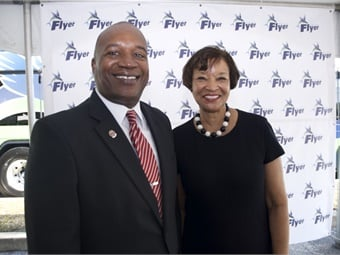 JTA's Nathaniel Ford Sr. with FTA Acting Administrator Carolyn Flowers.