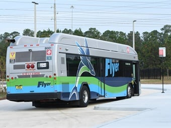 The First Coast Flyer Red Line will operate with 19 energy efficient CNG buses offering complimentary Wi-Fi, mobile ticketing with MyJTA, and bus arrival information with NextBus. JTA