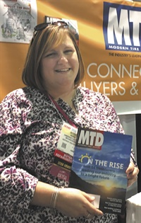 Jacquie Hower attended the SEMA Show and the Car Care Council Women's Board reception on Nov. 1 at AAPEX to see her mom, Judith Zimmerman Walter, honored as the female shop owner of the year.