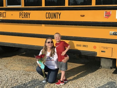 School bus driver Jean McKeag used her recent training to give the Heimlich maneuver to a boy who was choking on a piece of candy. The boy's mother wrote McKeag a thank-you note, and gave her flowers and a gift card.