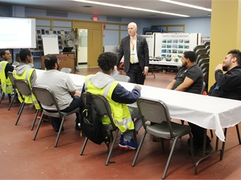 GM Jeff Knueppel talking to students about their experiences. SEPTA