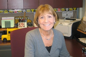 "Hartland Consolidated Schools recognized its longtime transportation supervisor, Jill Fons, as its April ""Person of the Month."""