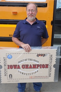 John Maxwell of Dallas Center — Grimes Community School District won Iowa's Best of the Best Technicians Training and Competition last month.