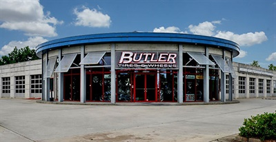 The 10,000-square-foot store in Alpharetta is one of four Butler Tire locations in the Atlanta area. Opened 15 years ago, it is the newest of the company's stores.