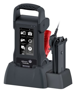 Johnson Controls and Midtronics Inc. partnered to develop a battery and electrical system tester. Features include on-tool access to installation instructions. Photo courtesy of Johnson Controls.