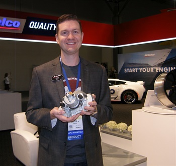 Josh Shuck, brake product specialist, says ACDelco's new, not remanufactured, caliper gives shop owners a new, high-quality option.