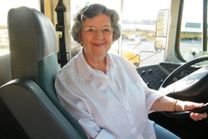 Joyce St. John, who recently retired after 42 years driving Morgan County (Ala.) school buses, was named 2011 Children's Choice School Bus Driver of the Year by Thomas Built.
