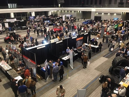 "K&M Tire Inc.'s recent meeting in Columbus, Ohio, featured a large trade show. ""Our customers are part of our extended family,"" K&M Tire CEO Ken Langhals told attendees."