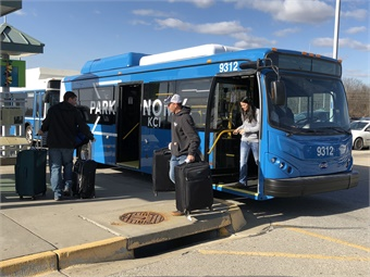 A couple of years ago, Kansas City and Indianapolis airports began using battery-electric buses on their routes, with Kansas City going with four vehicles from BYD.