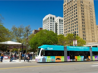 Passport works with the City of Detroit on a number of transportation initiatives, including the Park Detroit mobile app for parking.QLINE