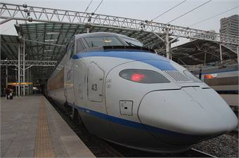 Photo of Korea's KTC high-speed rail courtesy LWYang
