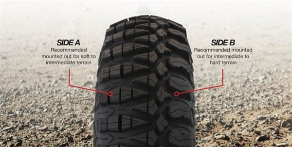 The new Kanati Terra Master features a unique asymmetrical tread pattern for two mounting options.