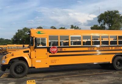 Kansas City (Mo.) Public Schools added 155 propane school buses to its fleet. Photo courtesy Blue Bird
