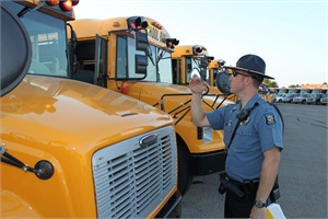 Kansas Highway Patrol troopers will check buses statewide from the middle of July until the beginning of the school session to make sure the vehicles comply with safety regulations.