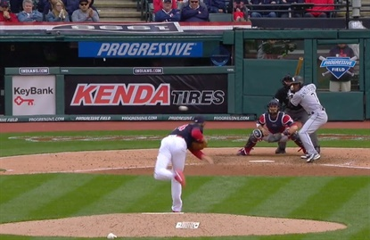 Kenda's sponsorship of the Cleveland Indians includes signage behind home plate.