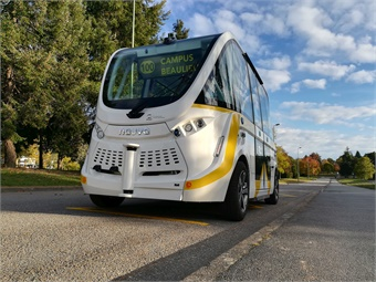 Autonomous shuttle service will operate throughout the day, Monday to Friday, with greater frequency during peak hours.