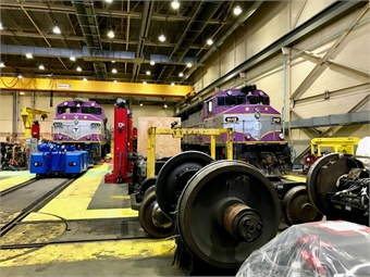 The Commuter Rail Maintenance Facility serves as the primary shop for maintaining and repairing the fleet of 410 coach cars and 90 locomotives. Photos via Janna Starcic