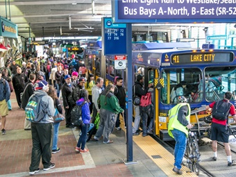 King County Metro provided an all-time high 122 million trips in 2017 on more than 200 bus routes. Photo: King County Metro
