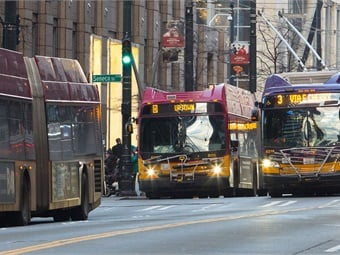 """Seattle ranked as the """"best"""" city for public transportation in the U.S. in a new report from WalletHub. King County Metro"""