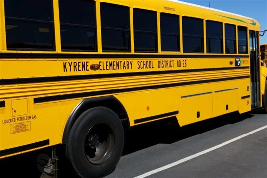 Now 85% of Kyrene School District's school bus fleet is composed of Blue Bird Vision Propane models.