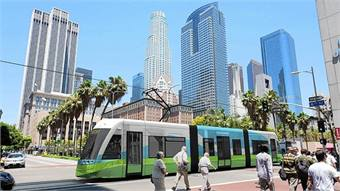 Los Angeles Streetcar rendering.