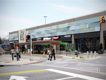 IndyGo's Broad Ripple Station for the Red Line BRT service. Rendering: IndyGo