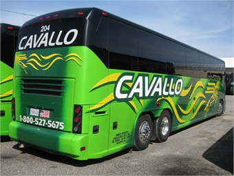 Over the years, Cavallo grew to include a fleet of 110 coach buses traveling more than five million miles per year to destinations all around the country. Cavallo Bus Lines