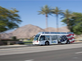 The U.S. designed and built bus has more than one million miles of transit validated service using the BAE Systems electric propulsion system currently on more than 10,000 buses worldwide. SunLine Transit
