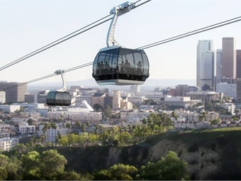 The Los Angeles County Metropolitan Transportation Authority (Metro) has formally begun the negotiations necessary to make a privately-funded aerial gondola to Dodgers Stadium a reality. Image: Aerial Rapid Transit Technologies LLC