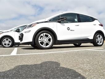 LA Metro has purchased 10 Chevy Bolt zero-emission vehicles for its non-revenue fleet. Photo: Metro