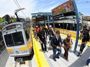 The Exposition Line Light Rail in Los Angeles, designed by WSP USA, received the California Transportation Foundation's Overall Project of the Year award. Photo: L.A. Metro