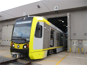 A 2014 photo of Kinkisharyo International's first light rail car delivered to Los Angeles Metro under the company's P3010 contract. Photo: Business Wire
