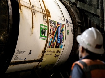 Tunneling machine being used for L.A. Metro's Purple Line extension. LA Metro