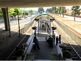 The Willowbrook Rosa Parks Station connects the Blue Line between Long Beach and downtown Los Angeles. Photo: RNL