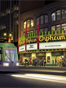 A planned four-mile streetcar system would stop at key downtown Los Angeles stops. Photo: Los Angeles Streetcar Inc.