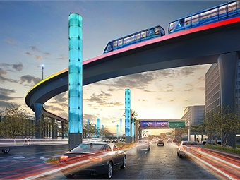Trains will run every two minutes, 24 hours a day, and will be able to carry about 10,000 people per hour. Los Angeles World Airports