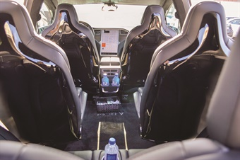 The Tesla Model X with its distinctive gull-wing doors has become a hot ticket for chauffeured service to Hollywood award shows and red carpet special events.
