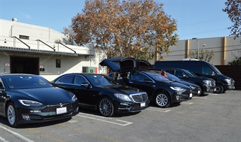While the Tesla Models X and S are MOTEV's signature vehicles, it also runs Mercedes-Benz S550e hybrids, Chevrolet Suburbans, and Ford Transit vans. The company funds the planting of a tree for every ride booked with them online.