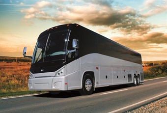 Motorcoaches of the future will be safer and more technologically rich, as manufacturers include the latest safety improvements, such as three-point seatbelts, and more integrated electronics, such as plug-ins for passenger personal electronics and Internet Wi-Fi access.