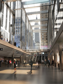 Rendering of new LIRR 33rd Street Concourse at Penn Station.