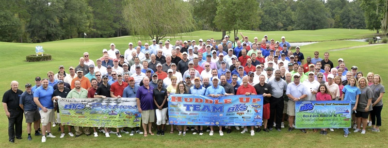 Participants in the 2016 Black's Tire Service Inc. charity golf tournament raised $125,618 for the children Boys and Girls Homes of North Carolina.