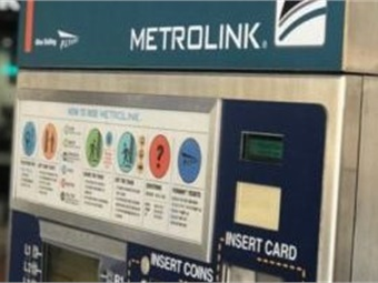 Los Angeles' Metrolink ticket vending machine. Photo: Coalition for Smarter Transportation