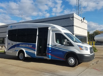 Laketran plans to purchase eight Dial-a-Ride buses with the funding. Photo: Laketran