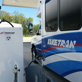 Laketran recently added new propane fueling infrastructure and new vehicles.